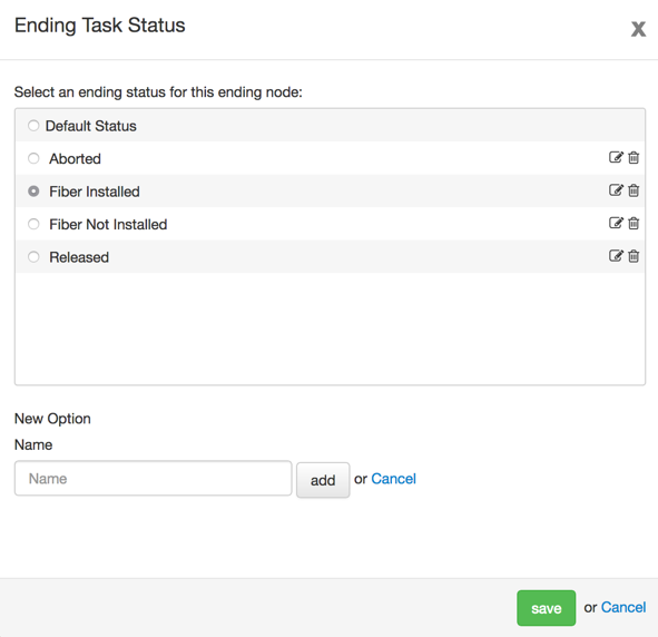 Create a workflow ending status