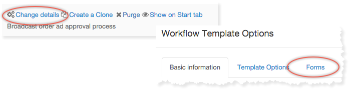 Attaching a data form to a workflow