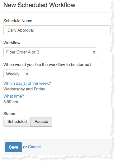 Create a scheduled workflow