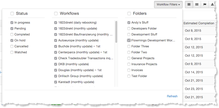 Workflow Designer Tool Bar