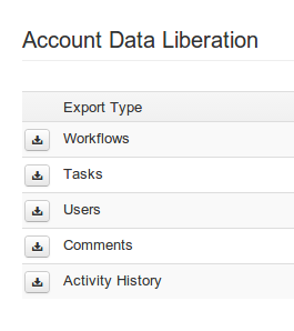 Export your account data sets to excel