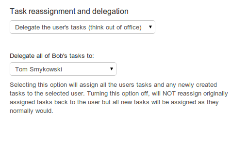 Delegation and task assignment