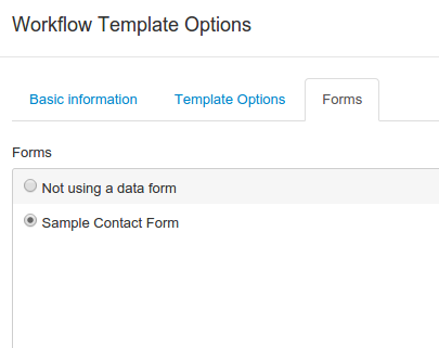 Simple workflow form management